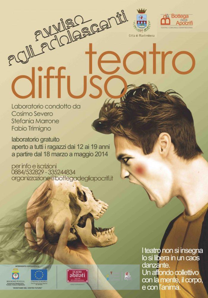 """""""Teatro Diffuso"""", al via il laboratorio gratuito per gli adolescenti"""