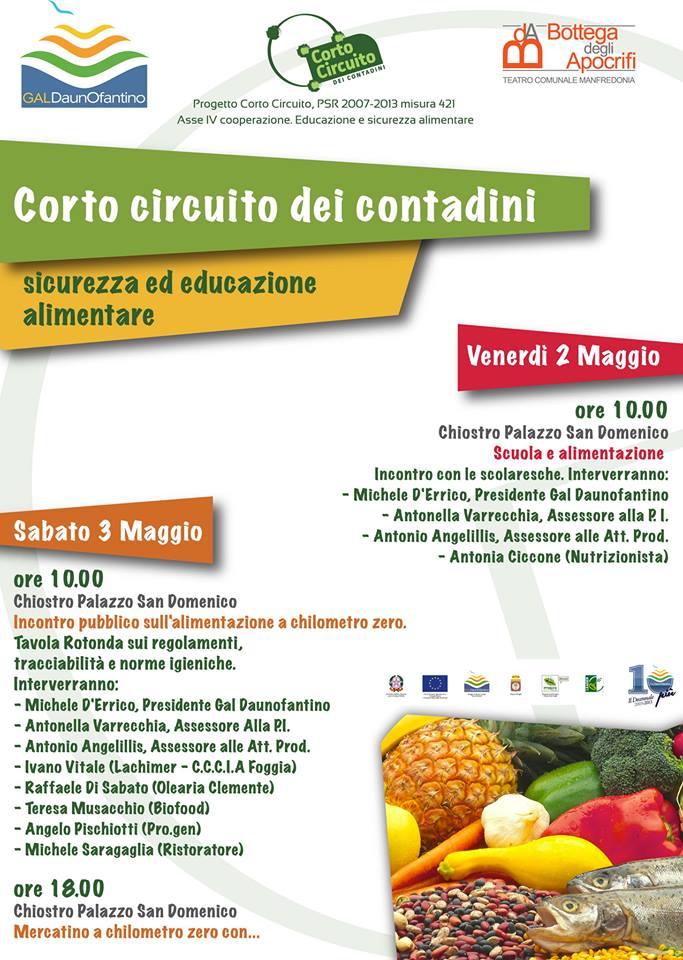 """Progetto """"Corto circuito dei contadini"""" a Visionarie: 2 e 3 maggio due seminari e mercatino per promuovere l'educazione alimentare"""