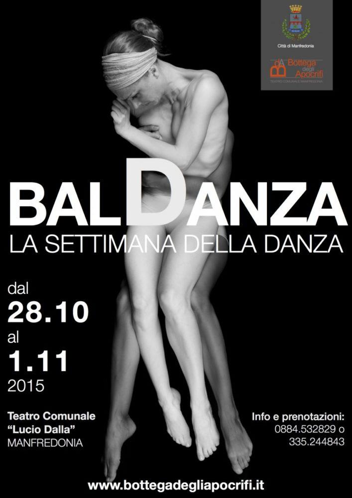 """""""Baldanza"""": dal 28 ottobre all'1 novembre la Settimana della Danza, il programma"""