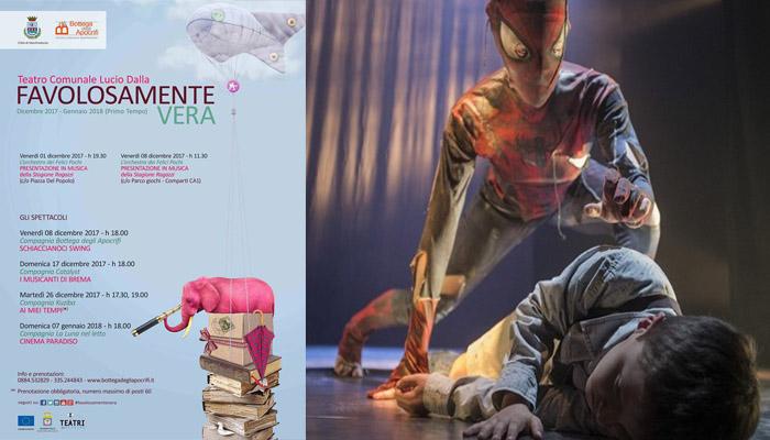 Domenica 07 Gennaio 2018  il Comunale di Manfredonia diventa CINEMA PARADISO