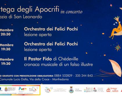 Musica in Abbazia col progetto di valorizzazione del patrimonio curato dagli Apocrifi. Il 18, 19 e 26 settembre 2021